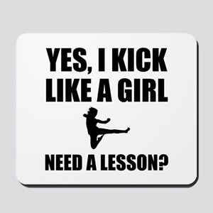 Like A Girl Martial Arts Mousepad